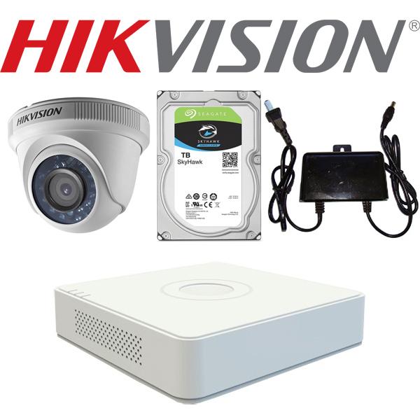 Trọn bộ camera dome 1.0 MP Hikvision chính hãng